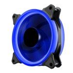 Вентилатор 120mm Makki MAKKI-FAN120-BL-2R, 4-pin, 1100rpm, синя LED подсветка image