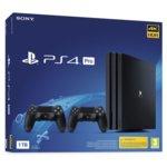Конзола Sony PlayStation 4 Pro 1TB + втори DualShock 4 контролер, черна image