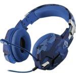 Слушалки Trust GXT 322B Carus 23249, микрофон, гейминг, USB, сини image