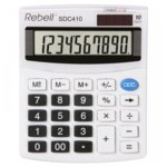 Калкулатор Rebell SDC410 office line, 10 разряден дисплей, бял image