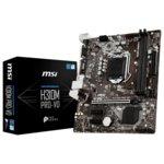 Дънна платка MSI H310M PRO-VD, H310, LGA 1151, DDR4, PCI-E(VGA&DVI-D), 4x SATA 6Gb/s, 2xx USB 3.1 Gen1, m-ATX  image
