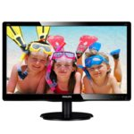 "Монитор 19.5""(49.6cm) Philips 200V4QSBR, MVA панел, W-LED, FullHD, 10,000,000:1, 20ms, 250 cd/m², DVI-D image"