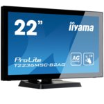 "Монитор Iiyama Prolite T2236MSC-B2AG, 21.5""(54.61 cm) VA панел, Full HD, Тъч, 8ms, 12000000:1, 250 cd/㎡, HDMI, DVI, VGA image"