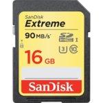 Карта памет 16GB SDHC, SANDISK Extreme, Class 10, скорост на четене до 90 Mb/s, скорост на запис до 40 MB/s image