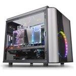 Кутия Thermaltake Level 20 VT Micro, mATX/miniITX, 2x USB 3.0, 4x прозореца от закалено стъкло, черна, без захранване image