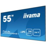 "Публичен дисплей Iiyama Prolite LH5582SB-B1, 54.6""(138.6 cm) IPS LED дисплей, HDMI, Display Port, DVI, VGA image"