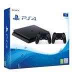 Конзола Sony PlayStation 4 Slim + DualShock 4, 1TB, черна image