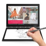 "Лаптоп Lenovo Yoga Book C930 (ZA3T0030BG)(сив), 4G, двуядрен Kaby Lake Intel Core m3-7Y30 1.00/2.6 GHz, 10.8"" (27.43 cm) QHD IPS + Full HD E-Ink, (USB-C 3.1), 4GB LPDDR3, 128GB SSD, USB-C 3.1, Windows 10, 0.799 kg image"