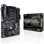 Дънна платка Asus TUF B450-PRO Gaming, B450, AM4, DDR4, PCI-E (HDMI&DVI)(CFX), 4x SATA 6Gb/s, 1x M.2 slot, 2x USB 3.1 (Gen 2), ATX image
