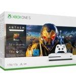 Конзола Xbox One S 1TB + Anthem Legion of Dawn Edition Bundle, 1TB, бял image