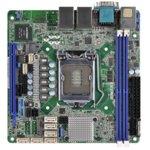 Дънна платка за сървър ASRock Rack E3C236D2I, LGA1151, поддържа DDR4 ECC UDIMM, 2x LAN1000, 6x SATA3 6.0Gb/s(RAID 0/1/5/10), 4x USB 3.0, miniITX image
