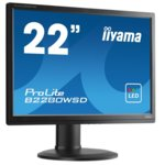 "Монитор Iiyama B2280WSD-B1, 22""(55.88 cm), TN LED панел, WSXGA+, 1200000000 :1, 5ms, 250 cd/m2, DVI, VGA, сив image"