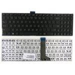 Клавиатура за лаптоп Asus съвместима със серия K555, X555, черна без рамка с малък Enter (US) image
