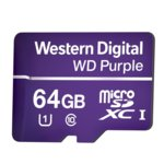 64GB microSDXC, Western Digital Purple, Class 10 UHS-I, скорост на четене 80 MB/Sec, скорост на запис 50 MB/Sec image
