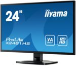 """Монитор Iiyama Prolite X2481HS-B1, 23.6""""(59.94 cm)VA панел, Full HD, 6ms, 12 000 000:1, 250cd/m2, HDMI, DVI, VGA image"""