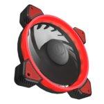 Вентилатор 120mm Cougar VORTEX FR 120 Red, 3-pin, 1200rpm, червена LED подсветка image