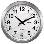 часовник HAMA CWA100, аналогово указание, Сребрист image