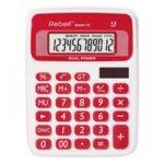 Калкулатор Rebell DESK12 stylish, 12 заряден дисплей, бяло/червен image