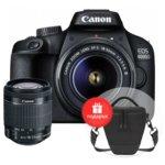 "Фотоапарат Canon EOS 4000D(черен) в комплект с обектив EF-s 18-55 mm DC III и подарък чанта Canon BAG Holster HL100, 18.0 MPix, 2.7""(6,8 cm) TFT дисплей, Wi-Fi, SD/SDHC/SDXC слот, USB, HDMI Mini (Type-C) image"