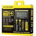 Зарядно Nitecore Digicharger D4 за Li-ion, Ni-Cd, Ni-Mh батерии image