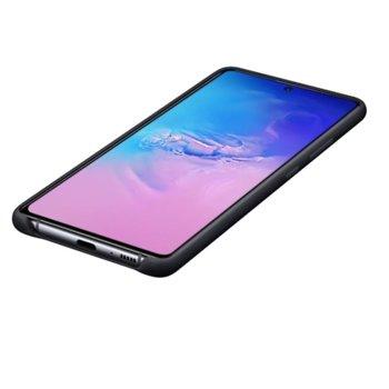 Kалъф за Samsung Galaxy S10 Lite, силиконов, Samsung Silicone Cover EF-PG770TBEGEU, черен image