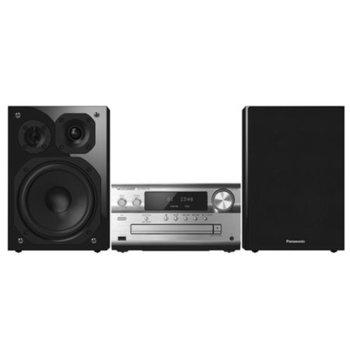 Аудио система Panasonic SC-PMX150EGS, 2.0, 120W RMS, Микро Hi-Fi система, Bluetooth, USB, AUX, сребриста image