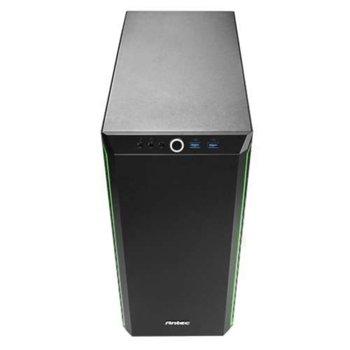 Кутия Antec ATX Performance P7 Window, ATX/Micro ATX/ITX, 2x USB 3.0, черна/зелена, без захранване image