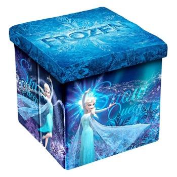 Табуретка Disney Frozen II, до 150кг, текстил, MDF основа, 3в1, сгъваема, синя image