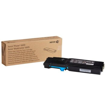 КАСЕТА ЗА XEROX Phaser 6600/WC 6605 - Cyan - P№ 106R02249 - заб.: 2000k image