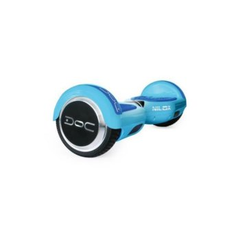 Ховърборд Nilox DOC Sky Blue, до 10км/ч скорост, 20км макс. пробег, до 100кг, 2x 240W двигатели, син image