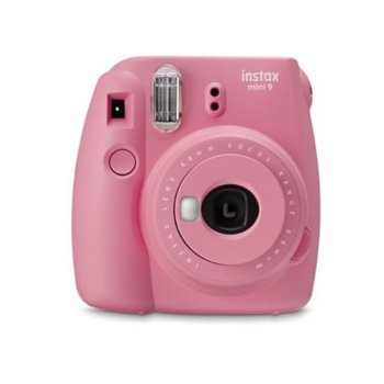 """Фотоапарат Fujifilm Instax Mini 9 (розов), моментални снимки, светкавица, огледалце за """"Selfie"""" image"""