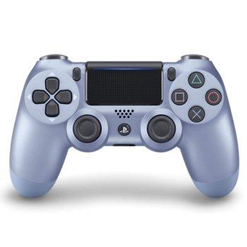 Геймпад Sony DualShock 4 V2 - Titanium Blue, безжичен, за PS4, син image