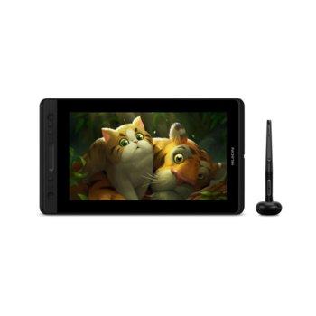 """Графичен таблет Huion Kamvas Pro 13 (черен/сребрист), 13.3"""" (33.78 cm) Full HD IPS дисплей, 5080 lpi, 8192 ниво на натиск, писалка, 220 cd/m2 image"""