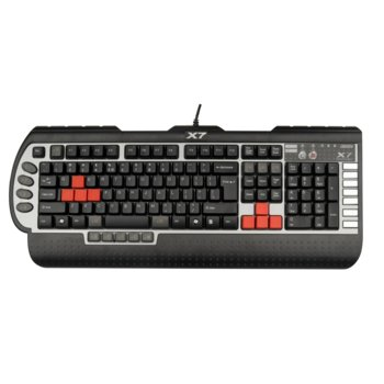 Клавиатура A4Tech G800V Gaming, 15 програмируеми бутона, макроси, USB image