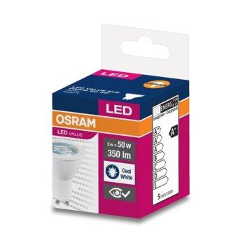 LED крушка Osram, GU10, 5W, 350 lm, 4000K image