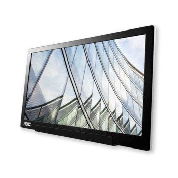 """Монитор AOC I1601FWUX, 15.6"""" (39.62 cm) IPS панел, Full HD, 5ms, 220 cd/m2, USB-C image"""