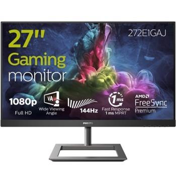 """Монитор Philips 272E1GAJ/00, 27"""" (68.58 cm) VA панел, 144 Hz, Full HD, 4ms, 350 cd/m2, DisplayPort, HDMI  image"""