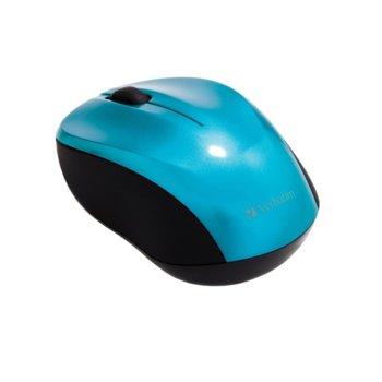 Мишка Verbatim Go Nano, безжична (2.4GHz), оптична (1300 dpi), USB, синя image
