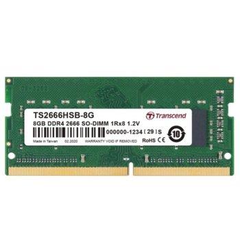 Памет 8GB DDR4 2666MHz, SO-DIMM, Transcend TS2666HSB-8G, 1.2V image