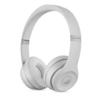 Слушалки Beats By Dre Solo3 Wireless, безжични, микрофон, сребристи image