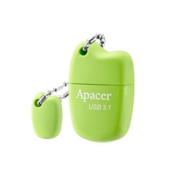 Памет 64GB USB Flash Drive, Apacer AH159, USB 3.1, зелен image