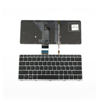Клавиатура за HP Elitebook Folio 1020 G1, US, сребриста рамка, с подсветка image