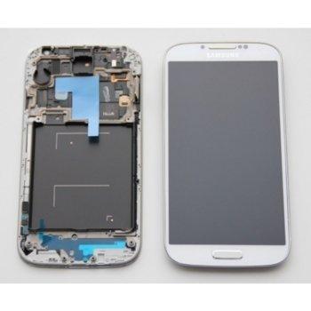 Дисплей за Samsung Galaxy S4 i9505 с тъч и рамка, оригинален, бял image