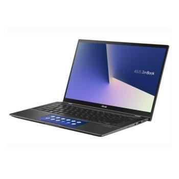 """Лаптоп Asus Zenbook Flip 14 UX463FLC-WB501T (90NB0NY1-M01940), четириядрен Comet Lake Intel Core i5-10210U 1.6/4.2 GHz, 14.0"""" (35.56 cm) Full HD Touchscreen Glare Display & GF MX250 2GB, (HDMI), 8GB DDR4, 512GB SSD, Windows 10 Home  image"""