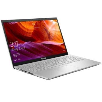 "Лаптоп Asus VivoBook M509DA-WB505 (90NB0P51-M15030)(сребрист), четириядрен Zen 2 AMD Ryzen 5 3500U 2.1/3.7GHz, 15.6"" (39.62 cm) Full HD Anti-Glare Display, (HDMI), 8GB DDR4, 256GB SSD, 1x USB 3.1 Type C, No OS  image"