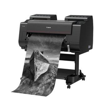 """Плотер Canon imagePROGRAF PRO-2000 в комплект със стенд Printer Stand SD-21, клас 12-цветен 24"""" (610 mm), 2400x1200 dpi, 3GB RAM, 320GB твърд диск, Wi-Fi, LAN 10/100/1000Base-TX, USB, A1 image"""