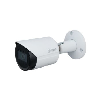"IP камера Dahua IPC-HFW2431S-S-0280B, насочена ""bullet"" камера, 4MPix (2688x1520@30fps), 2.8mm обектив, H.265+/H.265/H.264+/H.264/MJPEG, IR осветеност (до 30 м.), външна IP67, PoE, RJ-45, микрофон image"