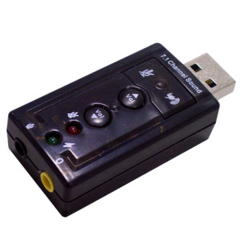 Външна звукова карта Estillo Mini, 7.1, USB image