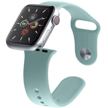 Каишка за смарт гривна Cellularline Urban 38/40mm, за Apple Watch, силиконова, зелена image