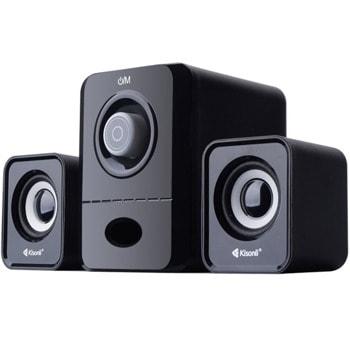 Тонколони Kisonli U-2900BT, 2.1, 11W, AUX, Bluetooth 5.0, USB, SD Card, черни/бели, USB захранване image